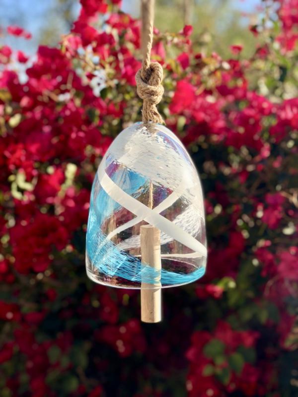 diy carillon éolien cloche en verre bois