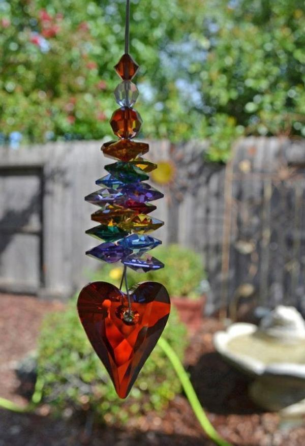 diy carillon éolien cristaux en verre