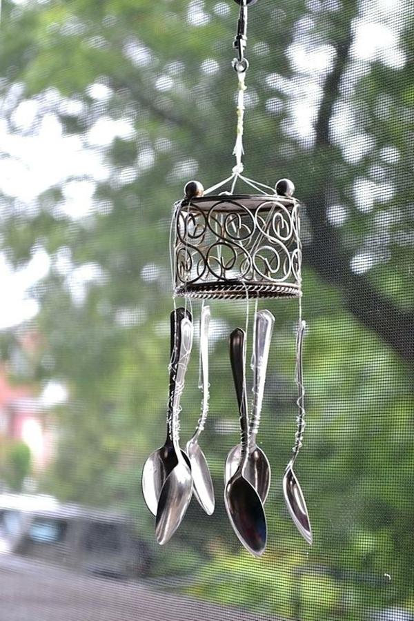 diy carillon éolien cuillères en argent
