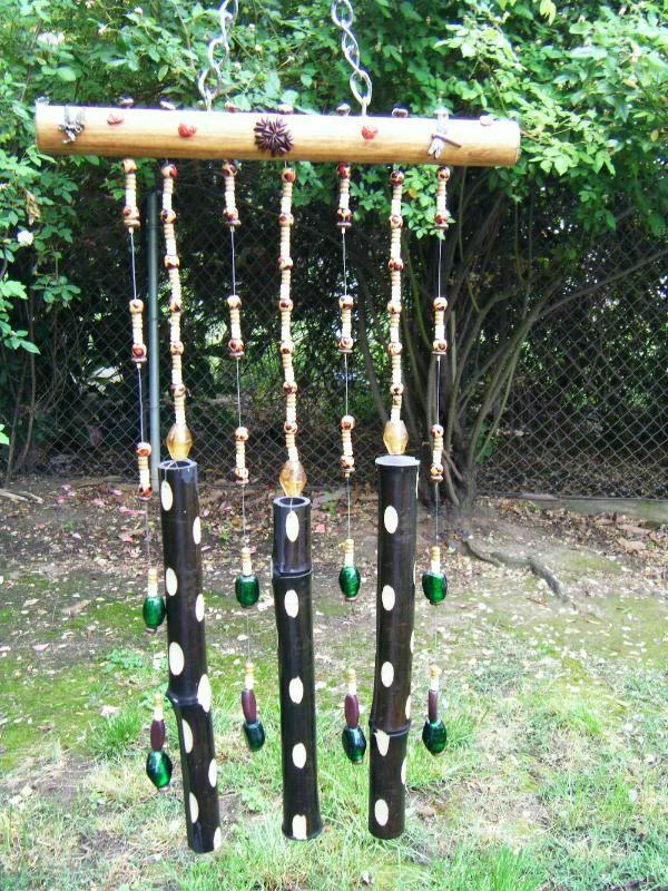 diy carillon éolien en bamboo