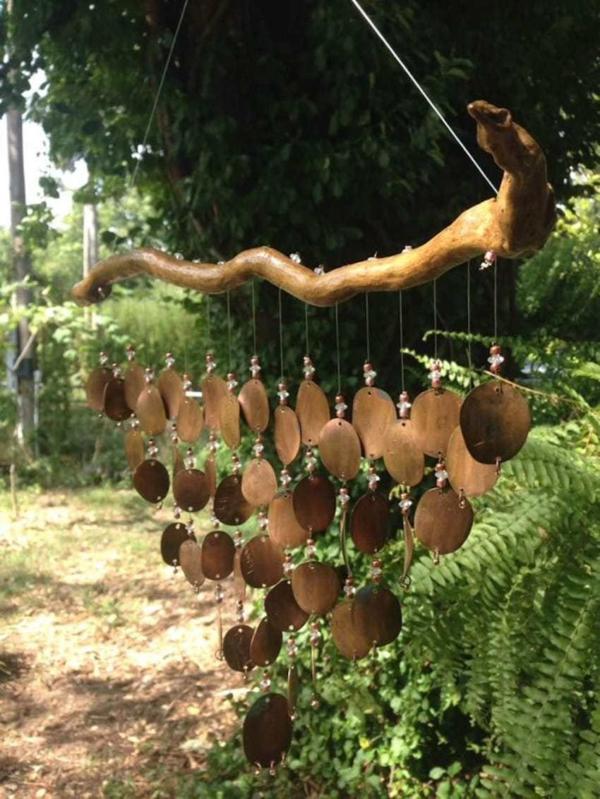 diy carillon éolien extérieur bois