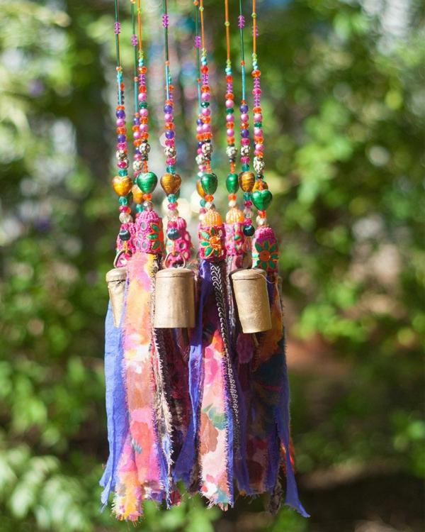 diy carillon éolien perles cloches textile