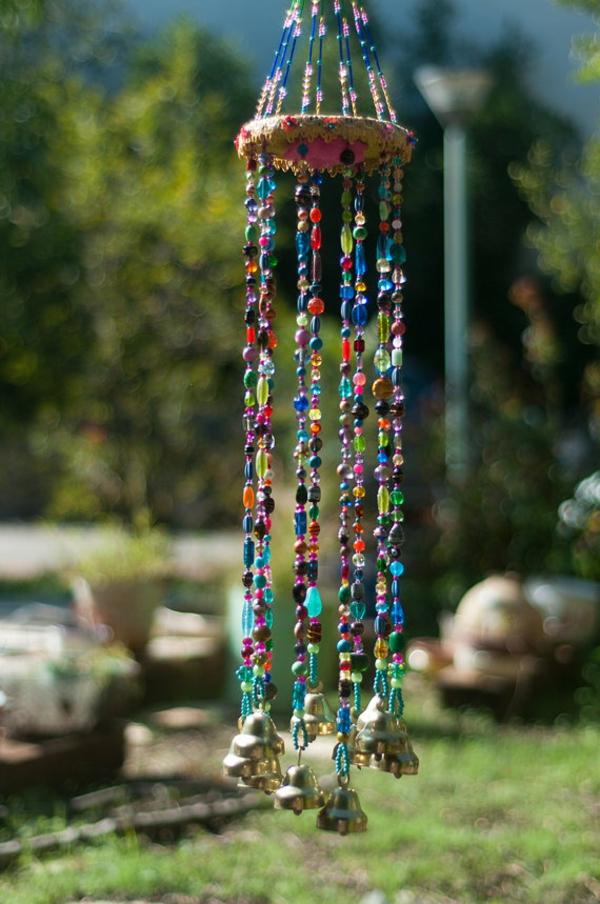 diy carillon éolien perles plastique petites cloches