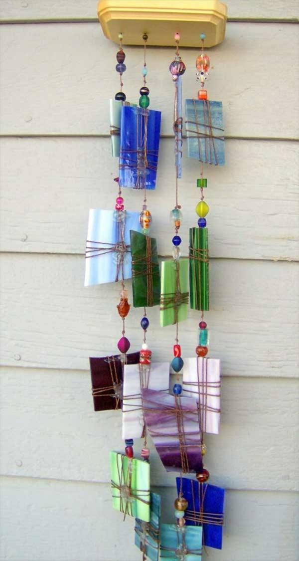 diy carillon éolien porcelaine perles