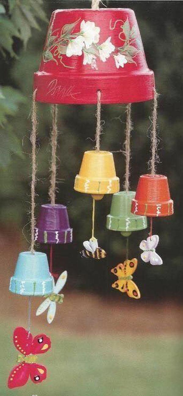 diy carillon éolien pot de fleur