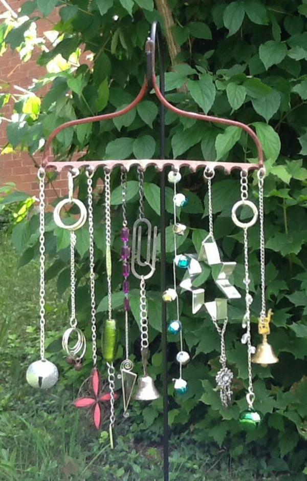 diy carillon éolien râteau de jardin pendentifs bijoux