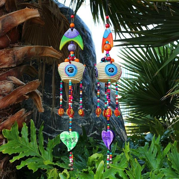 diy carillon éolien rotin bois perles décoratives