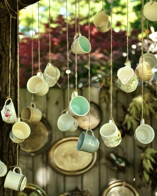 diy carillon éolien tasses à café