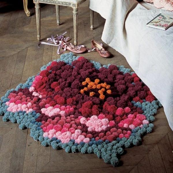 tapis pompon fabriquer soi m me tutoriel et id es. Black Bedroom Furniture Sets. Home Design Ideas