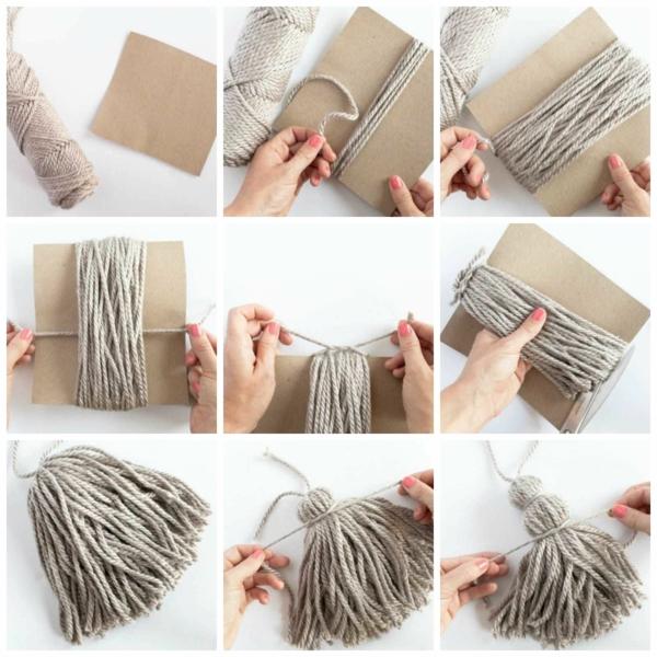 diy tapis pompon faire un pompon avec carton