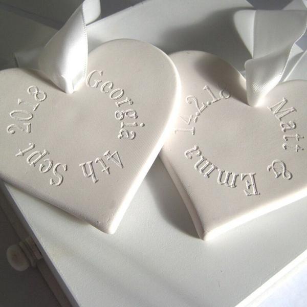 fête Saint-Valentin coeurs en céramique