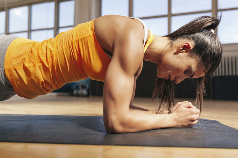 gainage abdo exercice planche anti-stress