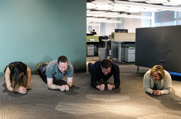 gainage abdo exercice planche sport collectif