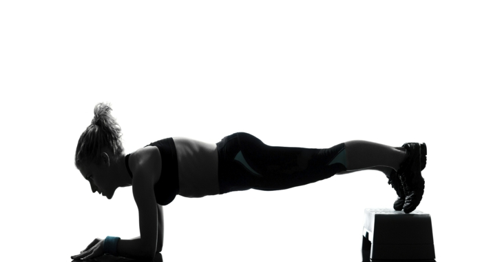 gainage abdo exercice planche sur support