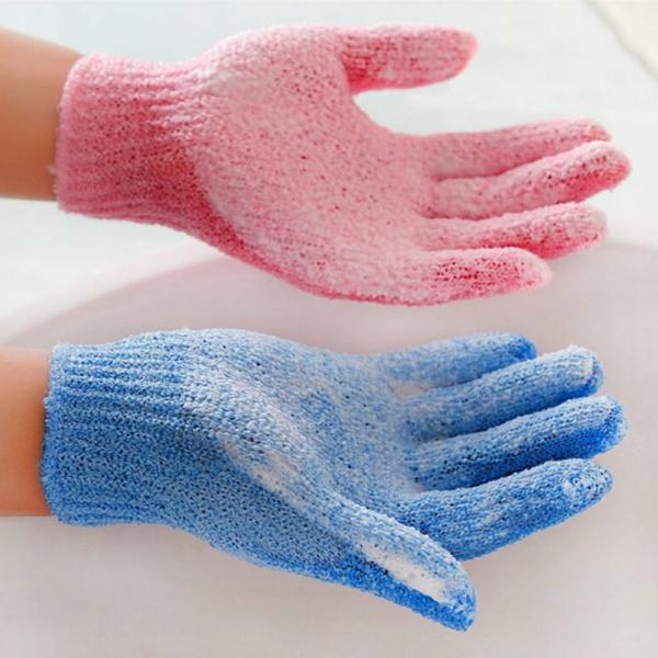 gants peeling peau éponge luffa