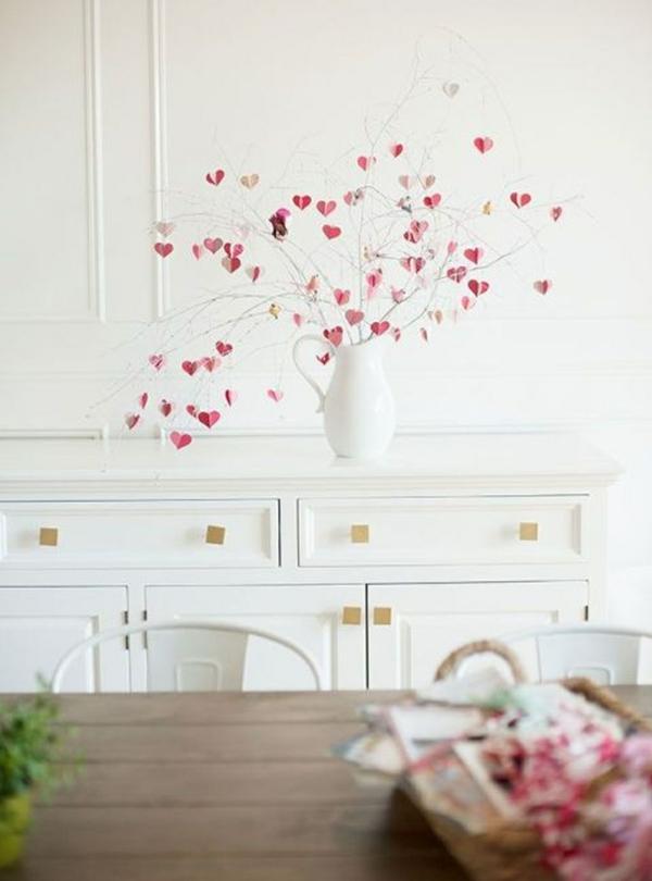 idée cadeau saint valentin fait main arbre de coeurs en papier