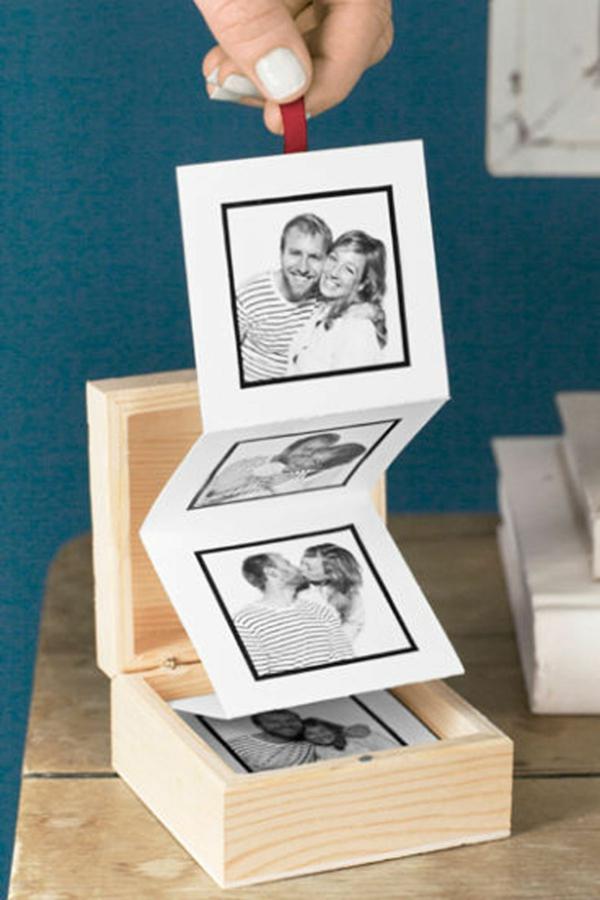 idée cadeau saint valentin fait main boîte de photos