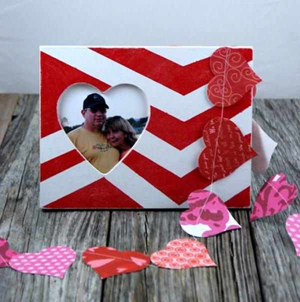 idée cadeau saint valentin fait main cadre photo personnalisé