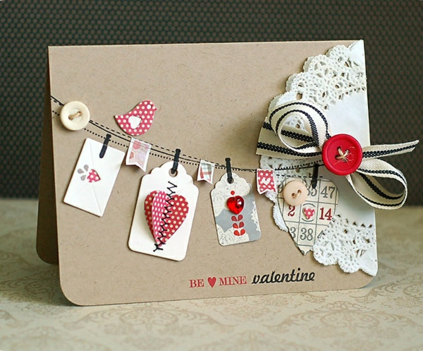 idée cadeau saint valentin fait main carte originale