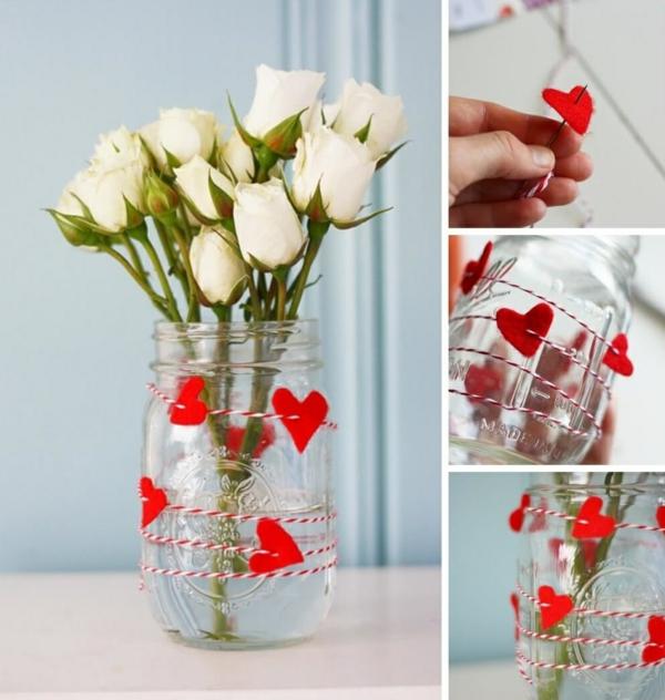 idée cadeau saint valentin fait main vase personnalisé mason jar