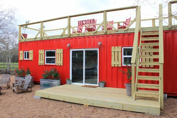 idée container habitable pour une maison unique
