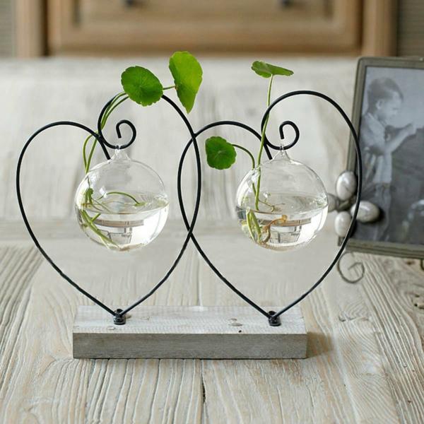 idée déco de table plante aquatique