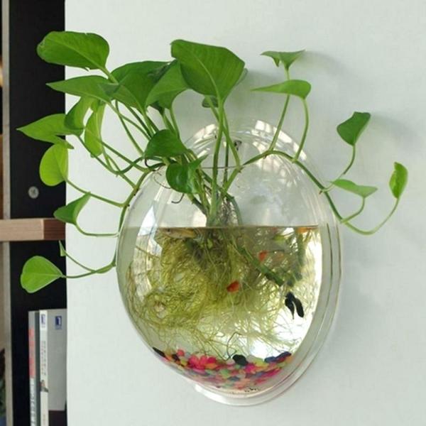 idée déco murale plante aquatique
