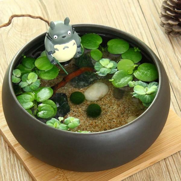 idée déco plante aquatique petit bassin