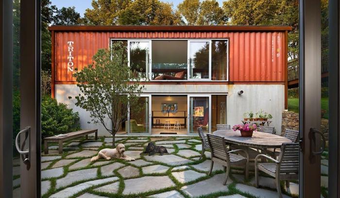idée de container habitable pour une maison unique