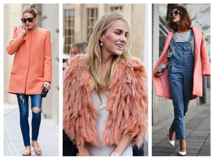 idées pour un look moderne association couleur corail
