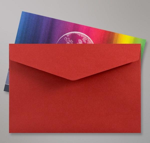 invitations de mariage Enveloppe Rouge Foncée Patte Triangulaire Avec Bande Adhésive