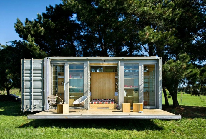 jolie maison idée container habitable
