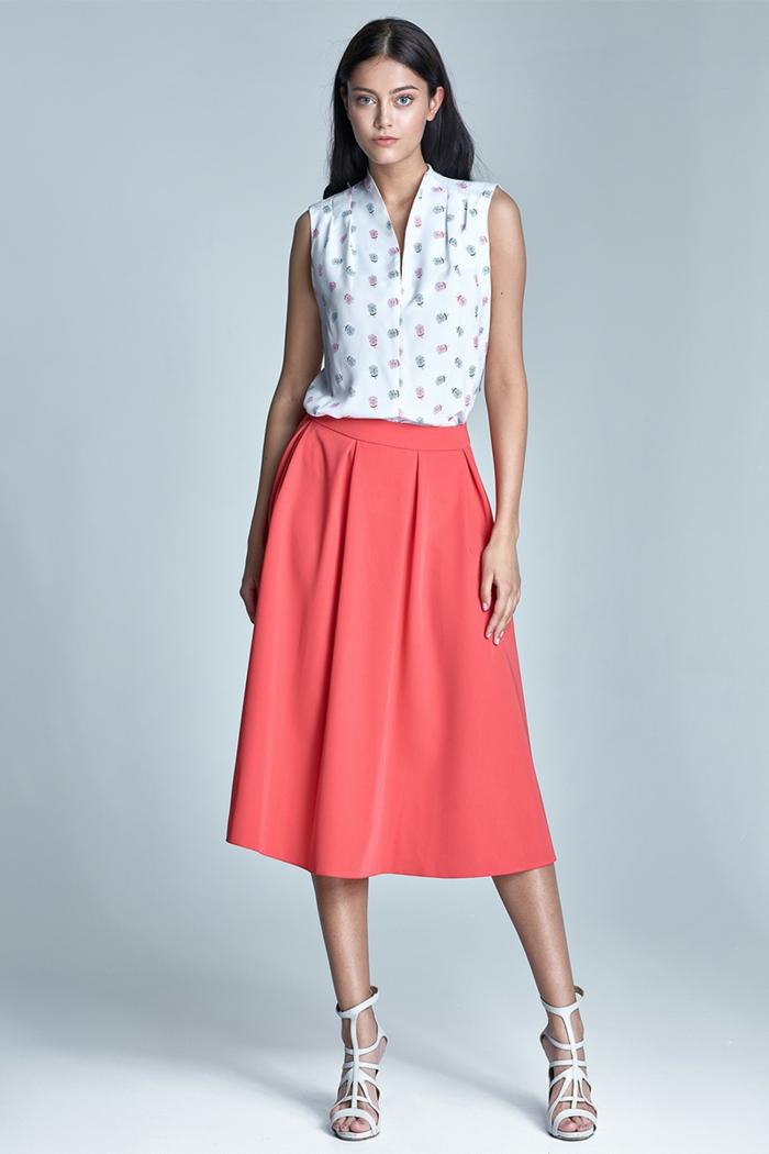 jupe moderne association couleur corail