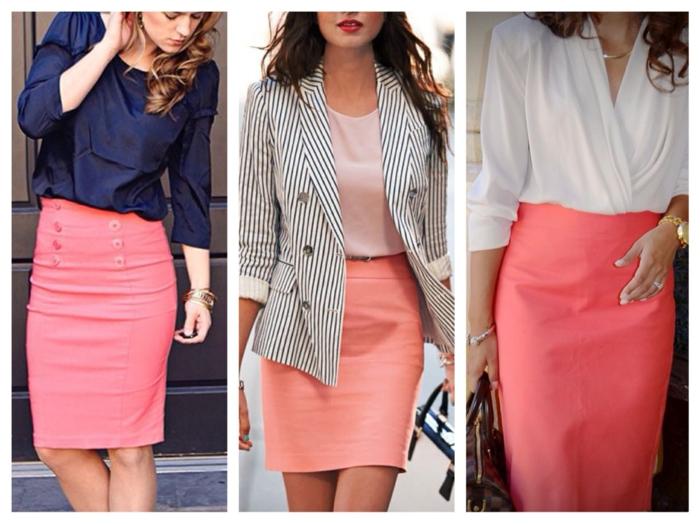 jupe moderne idée association couleur corail