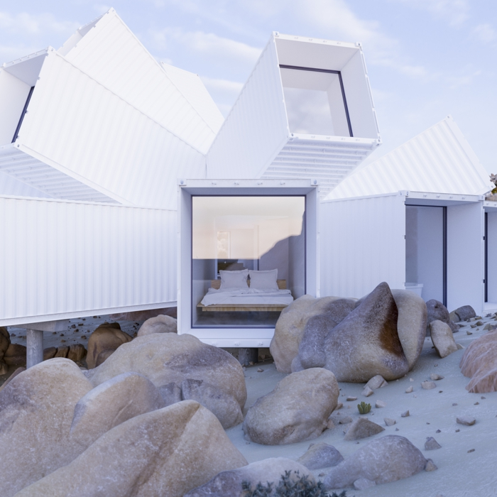 maison moderne d'architecte idée container habitable