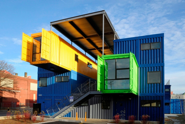 maison unique à partir de container habitable