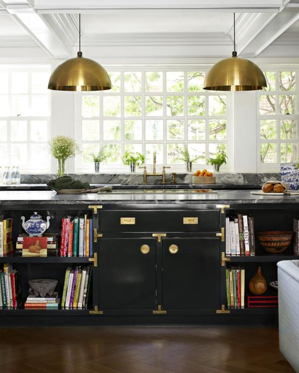 meuble cuisine design îlot de cuisine noir
