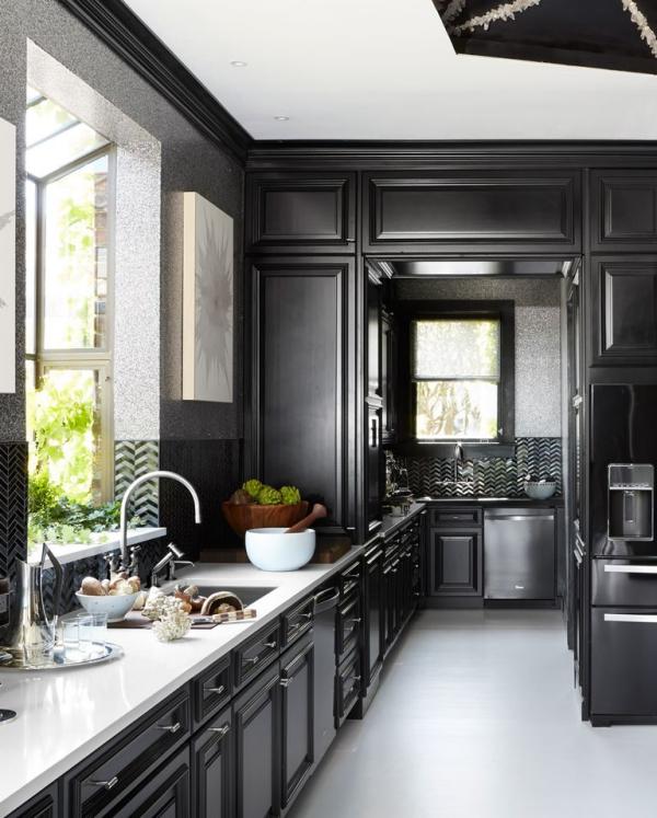 meuble cuisine design cuisine à grand espace