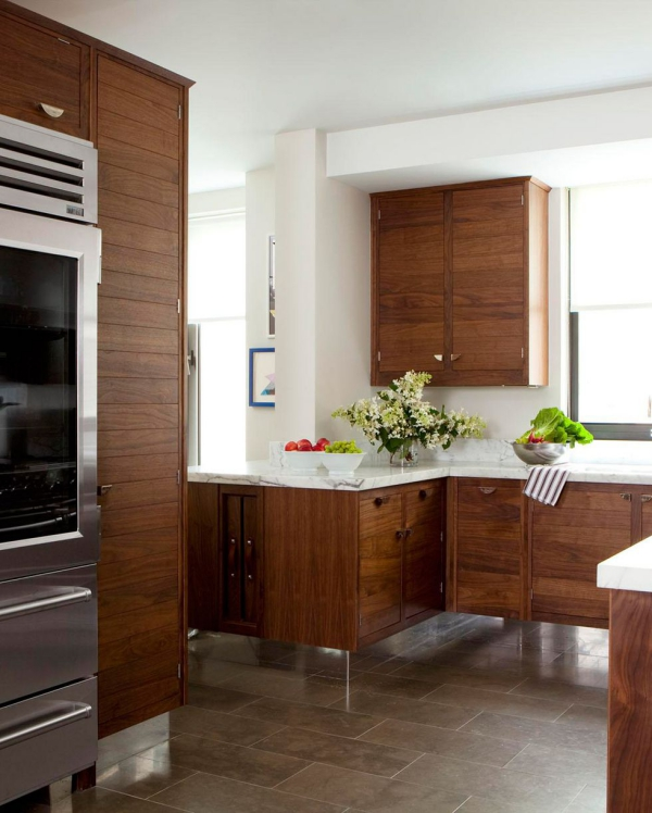 meuble cuisine design cuisine d'angle