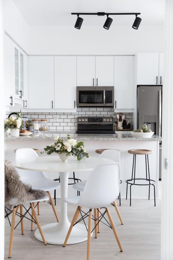 meuble cuisine design deux zones