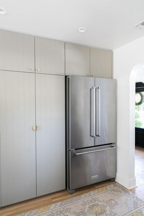 meuble cuisine design frigo incorporé