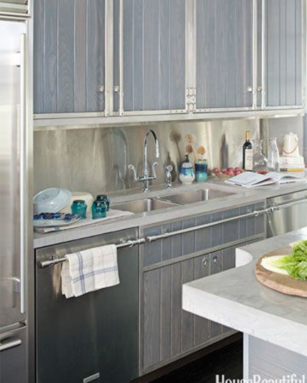 meuble cuisine design gris-clair pour les meubles