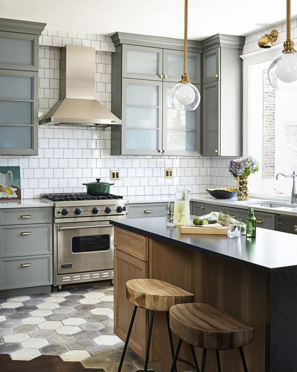 meuble cuisine design mélange de styles