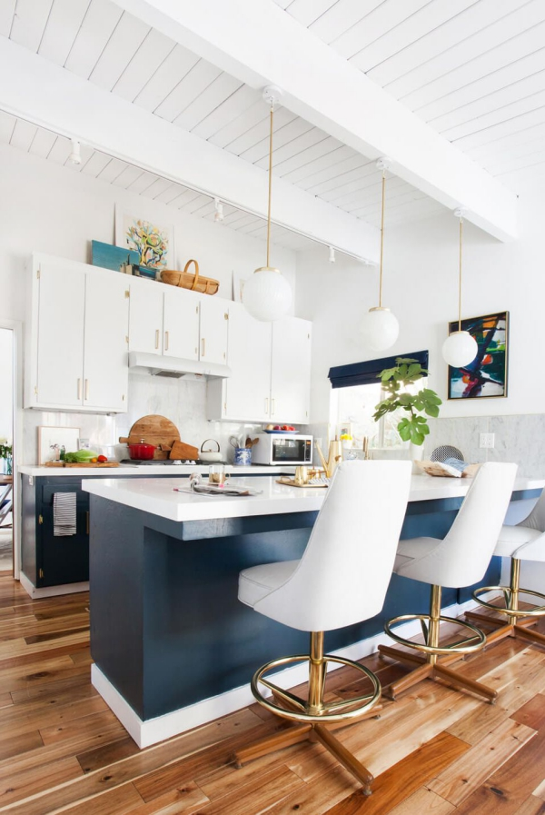meuble cuisine design sol stratifié