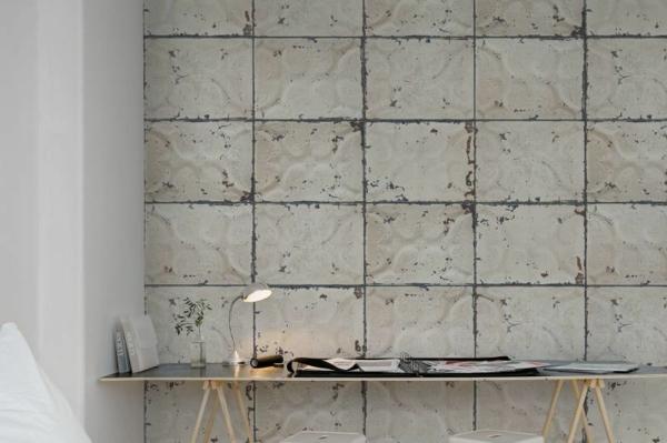 papier peint tendance 2019 3d effet carreaux de ciment