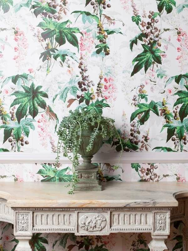 papier peint tendance 2019 déco fleurs