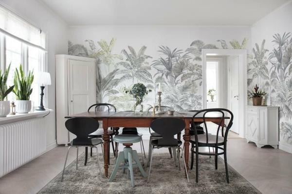 papier peint tendance 2019 déco jungle