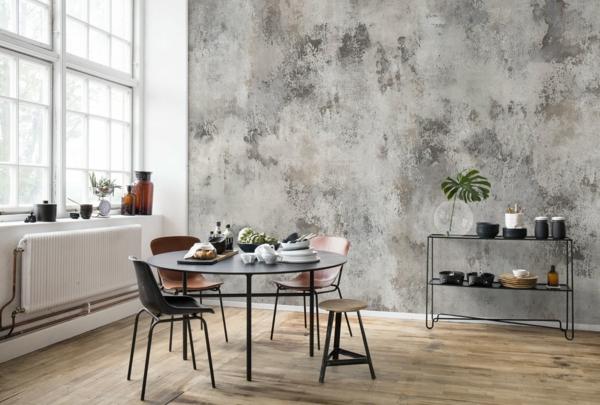 papier peint tendance 2019 effet métal wabi sabi