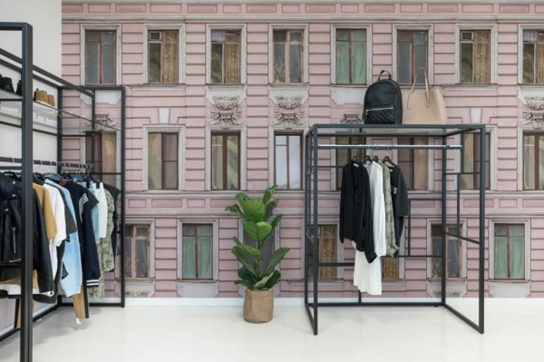 papier peint tendance 2019 imitation façade bâtiment