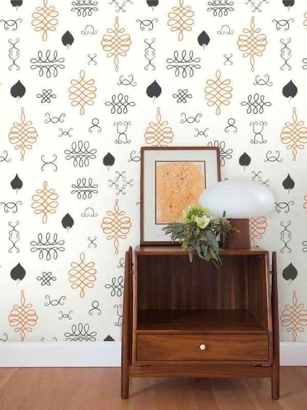 papier peint tendance 2019 motifs abstraits